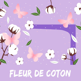 Katoenen bloem geur ontsnapping