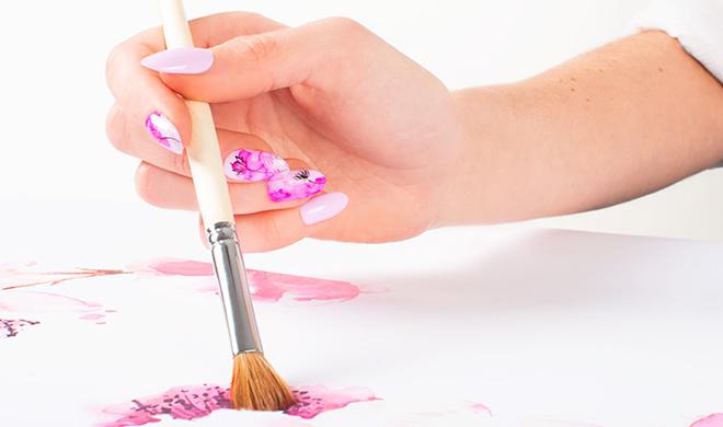 Encre aquarelle pour ongles