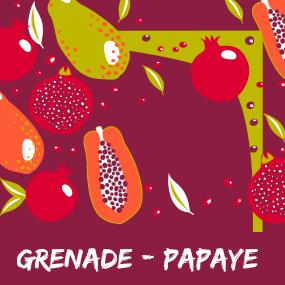 Evasion parfumée grenade papaye