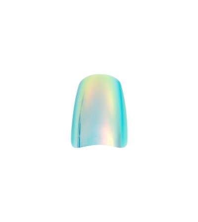 Ongles - Prothésie ongulaire - Faux ongles - Kit 24 faux ongles Idyllic nails - Holo turquoise - Réf. 150044