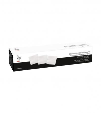 Accessoires pro - Consommable - 200 compresses manucure - Réf. 155420