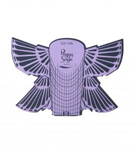500 formes adhésives pour ongles Papillon
