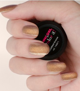 Gel de couleur pour ongles UV & LED Color it - scintillant bronze