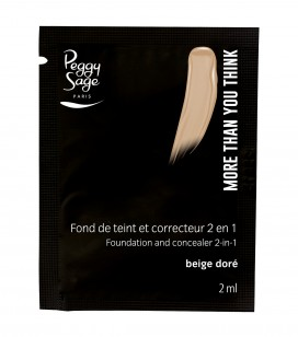 Maquillage - Teint - Fonds de teint - Echantillon -More than you think - FDT & correcteur 2 en 1 - Beige doré - Réf. 810531