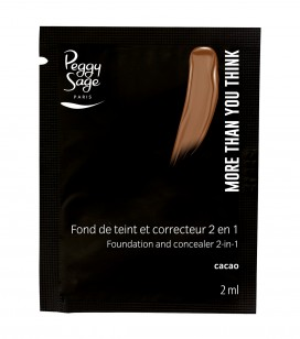 Maquillage - Teint - Fonds de teint - Echantillon -More than you think - FDT & correcteur 2 en 1 - Cacao - Réf. 810566