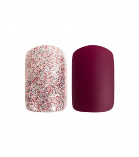 Ongles - Prothésie ongulaire - Faux ongles - Set 24 faux ongles avec patch - intense reds - Réf. 151504EC