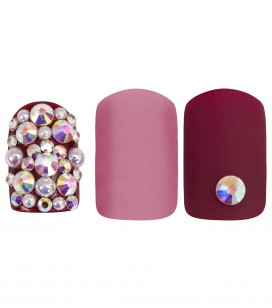 Ongles - Prothésie ongulaire - Faux ongles - Set 24 faux ongles avec patch - pink harmony - Réf. 151503EC