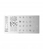 Plaque de stamping nail art - Autumn