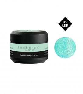 Ongles - Prothésie ongulaire - Gels - Gel UV/LED de couleur pour ongles pailleté - Magic Horizon - Réf. 146346