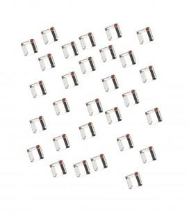 Ongles - Nail art - Décors pour ongles - strass pour ongles carré argent - Réf. 148039
