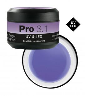 Ongles - Prothésie ongulaire - Gels - Pro 3.1 Gel monophase UV&LED 50 g Transparent - Réf. 146628