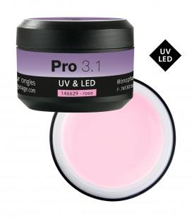 Ongles - Prothésie ongulaire - Gels - Pro 3.1 Gel monophase UV&LED 50 g Rose - Réf. 146629