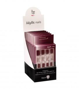 Ongles - Prothésie ongulaire - Faux ongles - Présentoir Set 24 faux ongles avec patch - intense reds  x6 - Réf. 151554