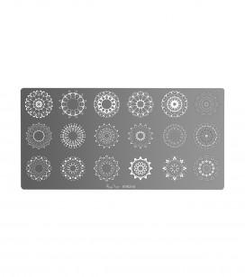 Ongles - Nail art - Stamping - Plaque de stamping nail art mandala - Réf. 898268