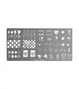 Plaque de stamping nail art love