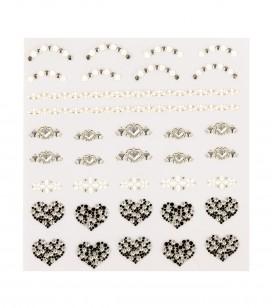 Décors adhésifs pour ongles jewels