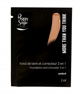Maquillage - Teint - Fonds de teint - Echantillon -More than you think - FDT & correcteur 2 en 1 - Ambré - Réf. 810561
