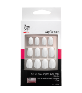 Ongles - Prothésie ongulaire - Faux ongles - Kit 24 faux ongles Idyllic nails - Smart oval - Réf. 150052