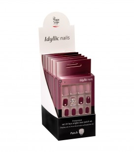 Ongles - Prothésie ongulaire - Faux ongles - Présentoir - Set 24 faux ongles avec patch - pink harmony x6 - Réf. 151553