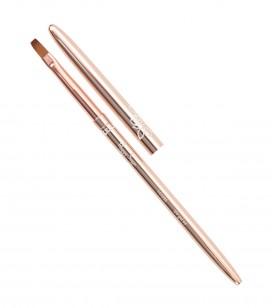 Ongles - Accessoires - Pinceaux - Pinceau gel Rose Gold -  Carré - Taille 4 - Réf. 141033
