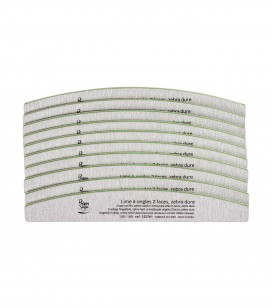 Nagels - Accessoires - Vijlen - 10 nagelvijlen 2-zijdig, zebra hard 100/180 - REF. 122767
