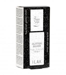 Nagels - Semi-permanente nagellak - Basislakken en top coats i-lak - Top Coat Glitter silver - REF. 191811
