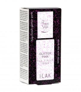 Nagels - Semi-permanente nagellak - Basislakken en top coats i-lak - Top Coat Glitter Rose - REF. 191813