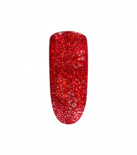Nagels - Kunstnageltechnieken - Mini verwijder nagellak - Peel off nagellak Red Glitter 5ml - REF. 105155