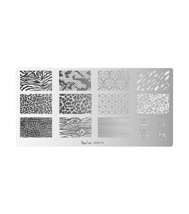 Nagels - Nail art - Stamping - Nail art stempelplaatje - Wildlife - REF. 898276