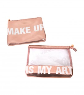 Make-up - Accessoires - Kleine taschen und koffer - Set van 2 make-up tasjes - REF. 200204EC