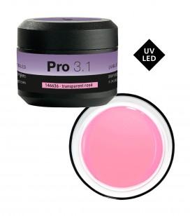 Nagels - Kunstnageltechnieken - Gels - Gel PRO 3.1 -UV&LED transparent rosé - REF. 146636