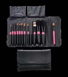 Set van 12 make-up penselen en kwasten - REF. 135301EC