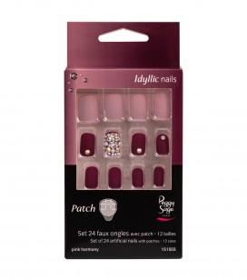 Nagels - Kunstnageltechnieken - Kunstnagels - Set 24 nageltips met patch - pink harmony - REF. 151503EC