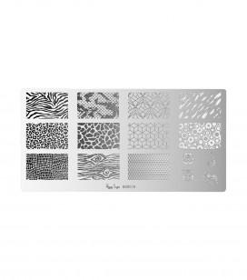 Nails - Nail art - Stamping - Nail art stamping plate - Wildlife - Sku 898276