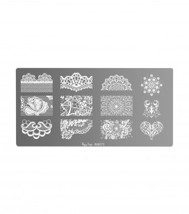 Nail art stamping plate
