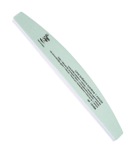 Half-moon 2-way nail file