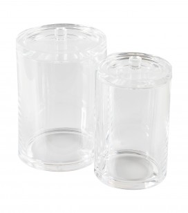Pro accessories - Cubicle accessories and linen - Set of 2 acrylic pots - Sku 170232