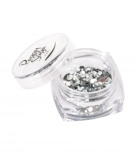 Nails - Nail art - Nail decorations - Rhinestones for nails  - Silver mix - Sku 148362
