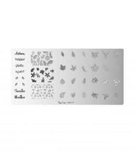 Nails - Nail art - Stamping - Nail art stamping plate - Autumn - Sku 898274