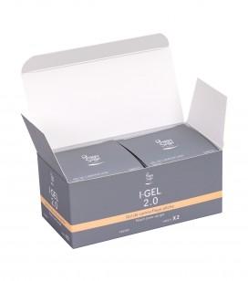 Nails - Artificial nail construction - I-gel - Pack of 2 UV&LED I-GEL 2.0 cover-up gel, peach - 50 g 146571 - Sku 146582