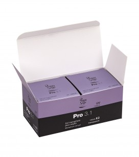 Nails - Artificial nail construction - Gel pro 3.1 - Pack of 2 PRO 3.1 gels - transparent 50 g 146628 - Sku 146632