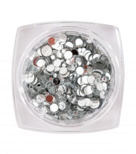 Paillettes pour ongles Silver mix