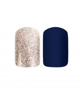 Ongles - Prothésie ongulaire - Faux ongles - Set 24 faux ongles avec patch - deep blue - Réf. 151505EC