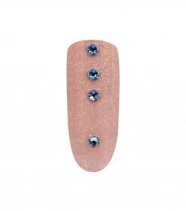 Ongles - Nail art - Décors pour ongles - 20 strass pour ongles - Light Sapphire SS - Réf. 148017