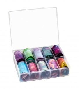 Ongles - Nail art - Transfer foils - Transfer Foil pour ongles x10 - Réf. 149699
