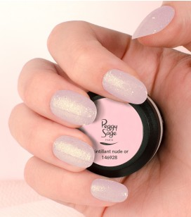 Gel de couleur pour ongles UV & LED Color it - scintillant nude or