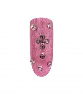 Ongles - Nail art - Décors pour ongles - 20 strass pour ongles - Antique Pink SS - Réf. 148018