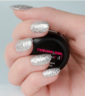 Gel de couleur pour ongles UV & LED Color it - pailleté argent