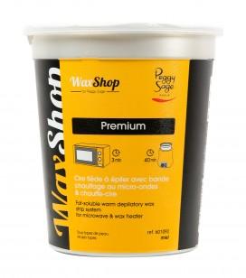 Cire tiède à épiler avec bande chauffage au micro-ondes & chauffe-cire Miel - tous types de peau - 700ml
