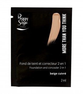 Maquillage - Teint - Fonds de teint - Echantillon -More than you think - FDT & correcteur 2 en 1 - Beige cuivré - Réf. 810546